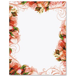 Ravishing Roses Border Papers