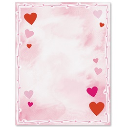 Cupid's Wish Border Papers
