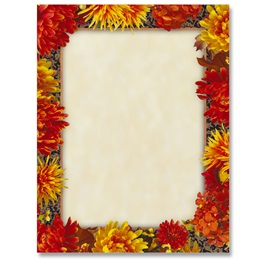 Autumn In Bloom Border Papers
