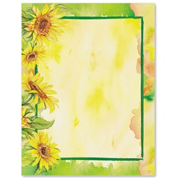 Sunflower Garden Border Papers