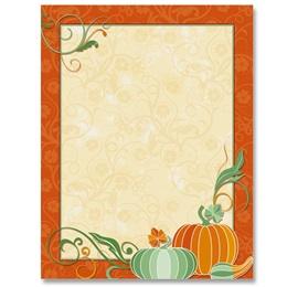 Magical Pumpkins Border Papers
