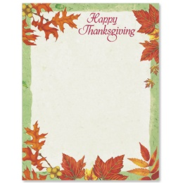 Thankful Season Border Papers