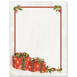 Festive Gifts Border Papers