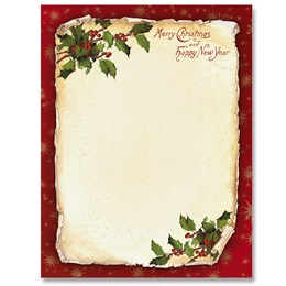 Old Fashioned Holly Border Papers