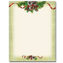 Natural Plaid Border Papers