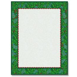 Holly Tapestry Border Papers