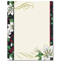 Royal Poinsettia Border Papers