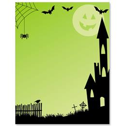 Spooky Lane Border Papers
