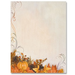 Swirls of Autumn Border Papers