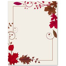 Mahogany Rouge Border Papers