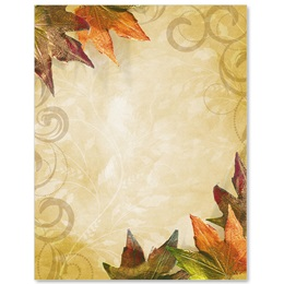 Fall Brilliance Border Papers