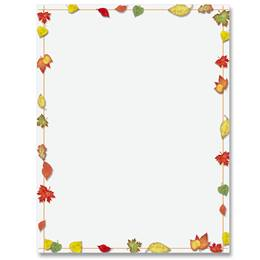 Simply Fall Border Papers