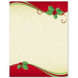Holly Pirouette Border Papers
