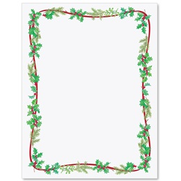 Simple Holly Border Papers