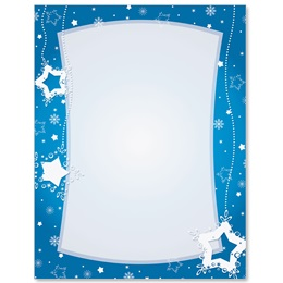 Star Flurries Border Papers