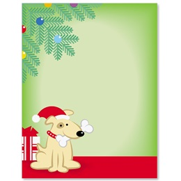 Christmas Puppy Border Papers