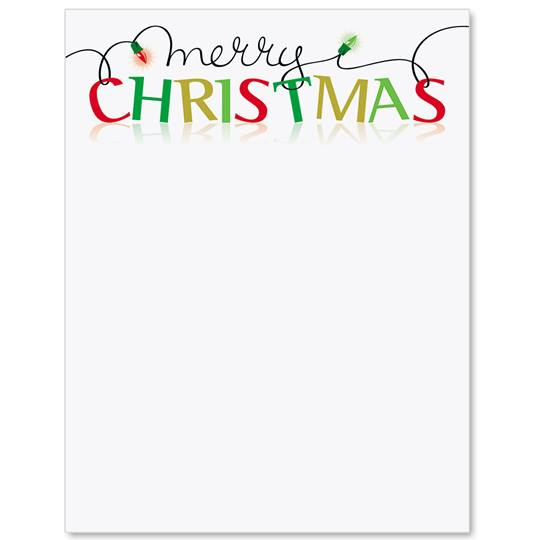 Merry Christmas Border Papers | Paper