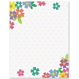 Wild Flowers Border Papers