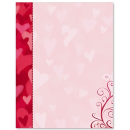 Heart Throb Border Papers