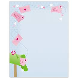 Valentine Mailbox Border Papers