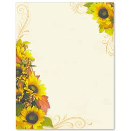 Golden Sunflowers Border Papers