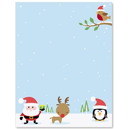 Winterland Delight Border Papers