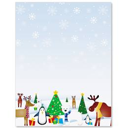 Christmas Critters Border Papers