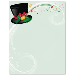 Frosty's Hat Border Papers