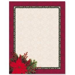 Pretty Poinsettia Border Papers