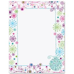 Sparkling Snowflakes Border Papers