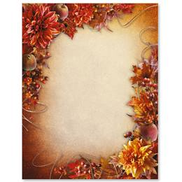 Fancy Foliage Border Papers