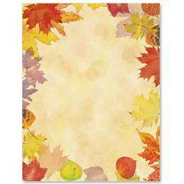 Translucent Leaves Border Papers