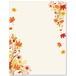 Scrolling Maple Border Papers