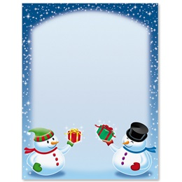 Snow Friends Border Papers