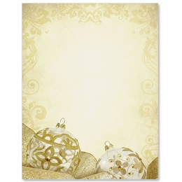Golden Filigree Border Papers