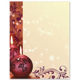 Cranberry Lights Border Papers