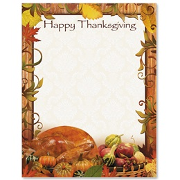 Thanksgiving Dinner Border Papers
