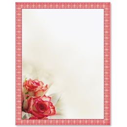 Sentimental Roses Border Papers