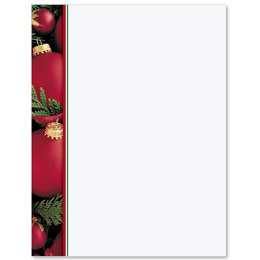 Holiday Ornaments Border Papers