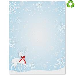 Snowflake Blizzard Border Paper