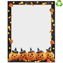 Halloween Sweets Border Paper