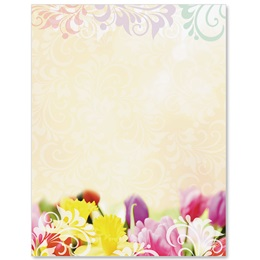 Spring Bulbs Border Papers