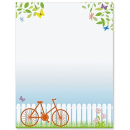 Spring Bike Ride Border Papers