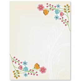 Flower Frame Border Papers