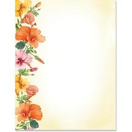 Happy Hibiscus Border Papers