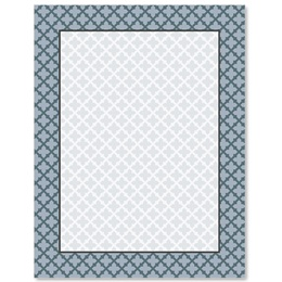Quatrefoil Border Papers