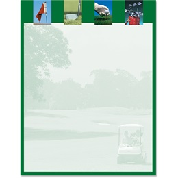 Golf Swing Border Papers
