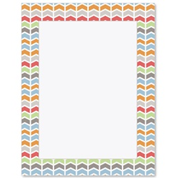 Chic Chevron Border Papers