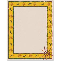 Swirly Sun Border Papers