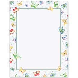 Spring Butterflies Border Papers